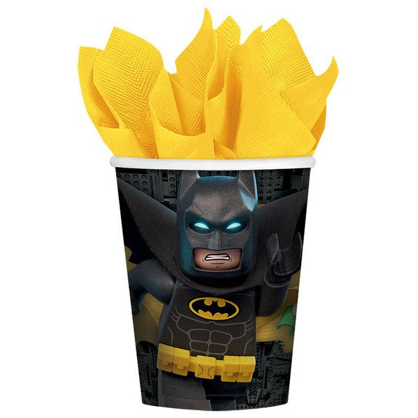 Check out Lego Batman Paper Cups | Lego Batman party supplies from Birthday in a Box from Birthday In A Box