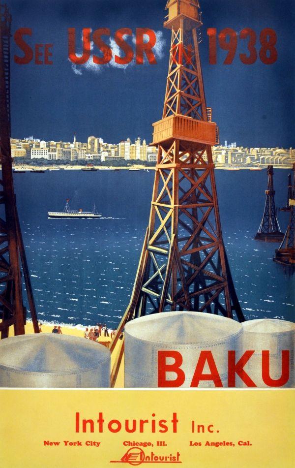 Eredeti vintage plakátok -> Utazási Plakátok -> Baku See Szovjetunió Inturiszt - AntikBar