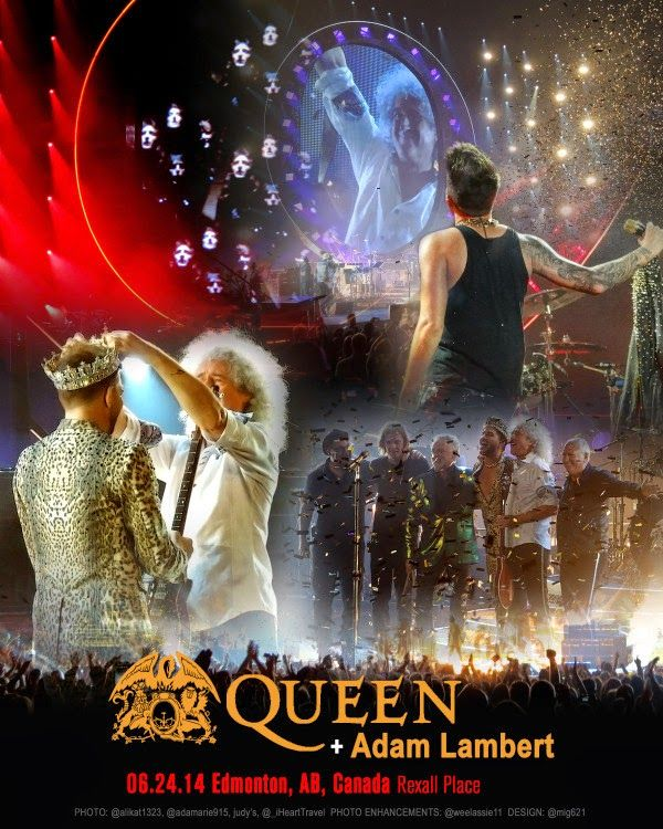 QUEEN + ADAM LAMBERT TOUR 2014 - Edmonton