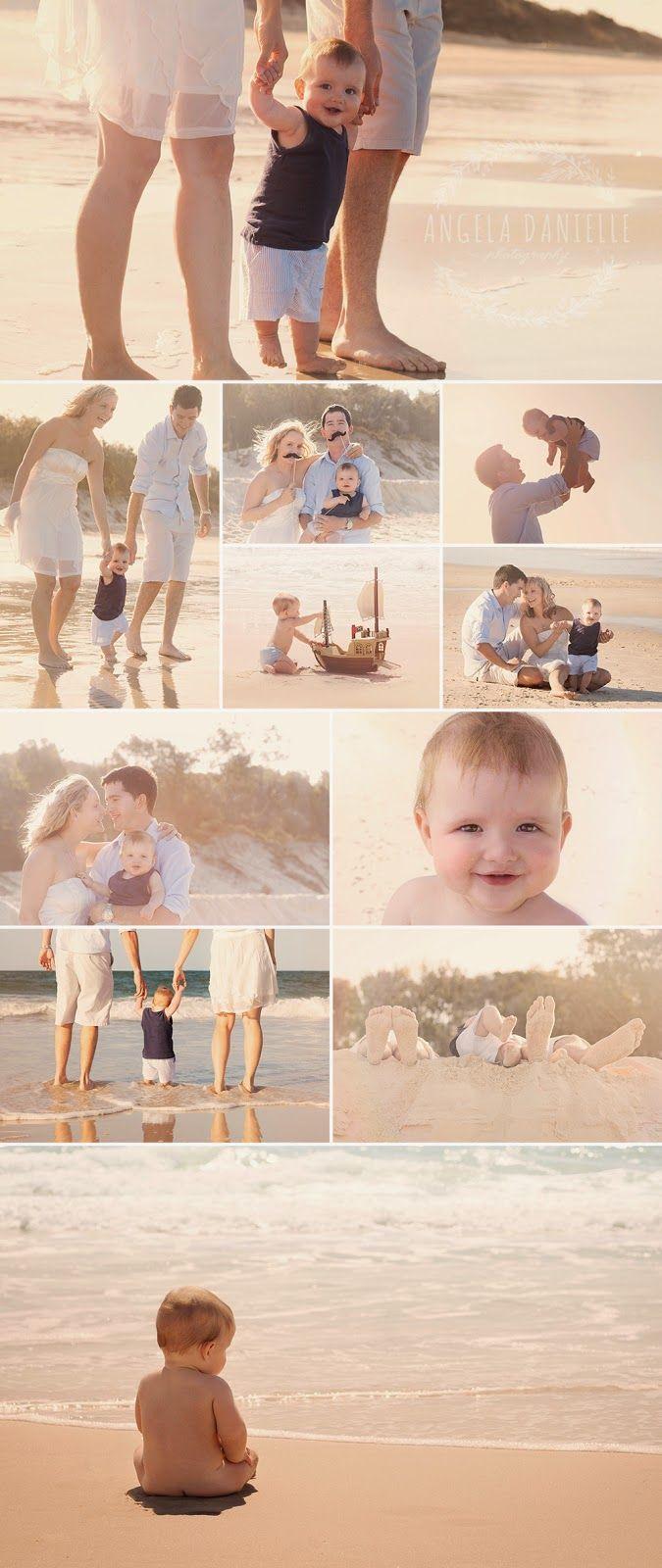 www.angeladanielle.com  Brisbane portrait photographer Beach family photography