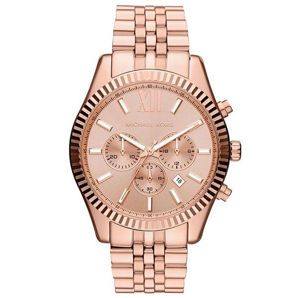 LINDO  - MICHAEL KORS  Reloj mujer cronógrafo MK acero - rosado/rosado