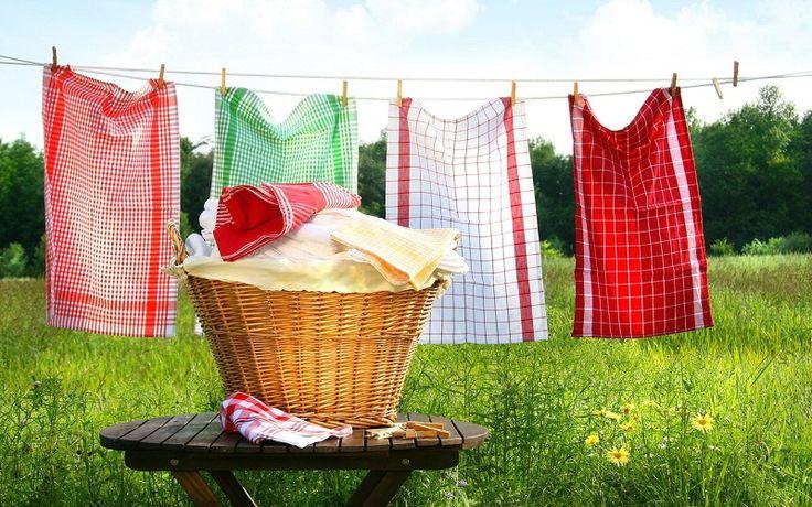 Стирка кухонных полотенец. Бабушкины советы, как отстирать кухонные полотенца