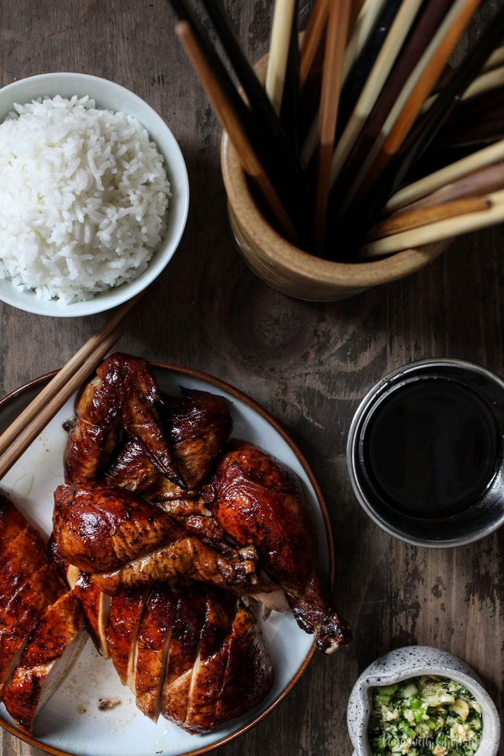 Oven Roasted Five Spice Chicken by pupswithchopsticks: A cross between a roasted chicken and peking duck, this recipe is for days when you have that craving for peking duck but chicken is all you have to work with. #Chicken #Five_Spice