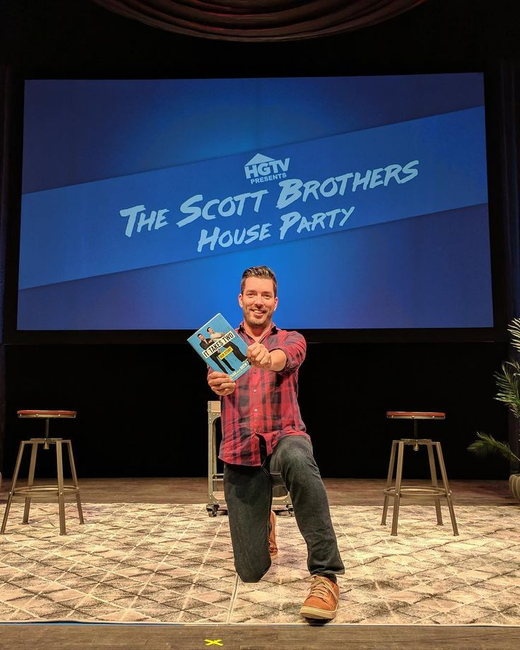"""Jonathan Scott on Instagram: """"#ItTakesTwoBook is coming,your way tomorrow! Get your copy, then come see us on the #ScottBrothersHouseParty tour! Link in bio."""" (Link: TheScottBrothers.com)"""