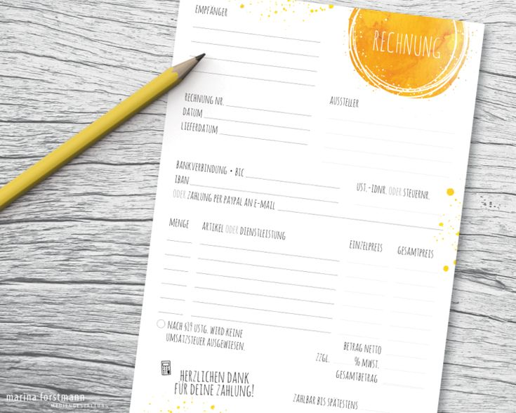 **Herzlichen Dank für deine Zahlung!** Dieser Rechnungsblock ist ideal für alle Kleinunternehmer/innen und gewerbliche Verkäufer/innen, die lieber fix mit dem Zettel und Stift als mit dem...