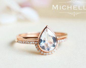 Bague de fiançailles diamant Matching Marquise par MinimalVS