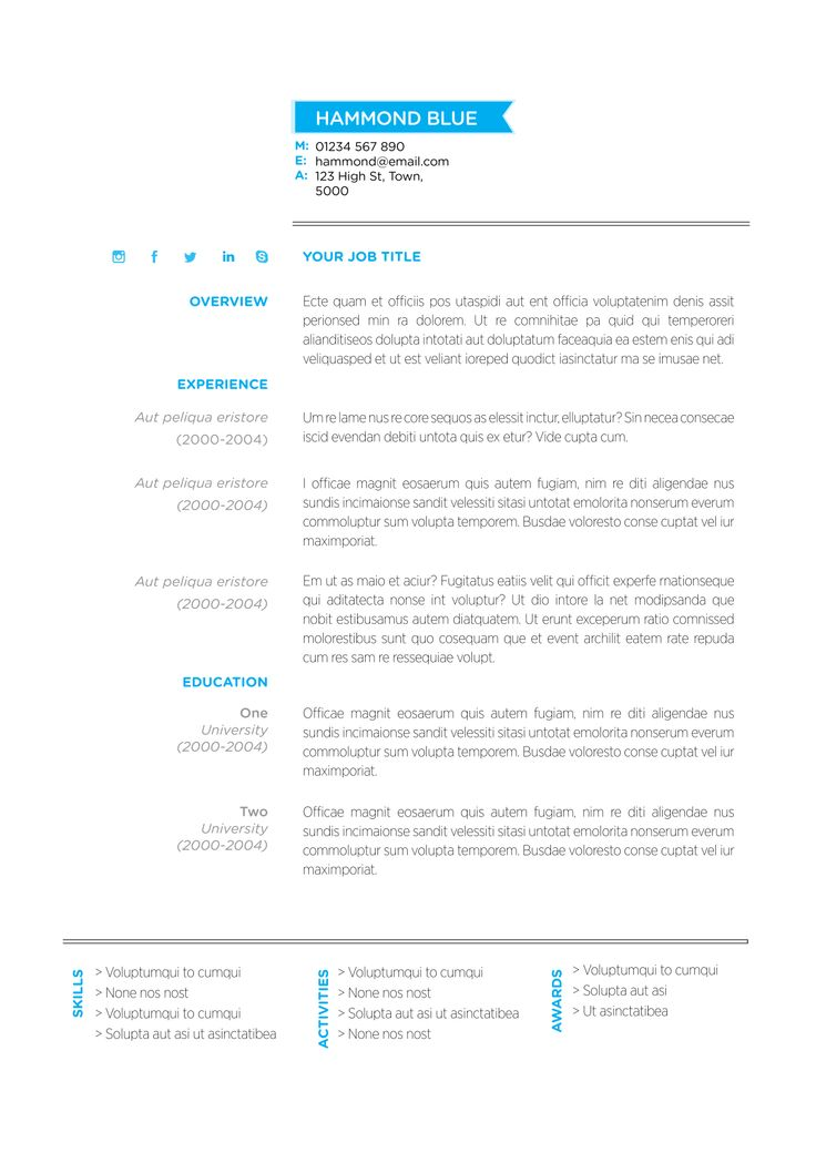 14 best Clean and Functional Resume Templates images on Pinterest - resume template au