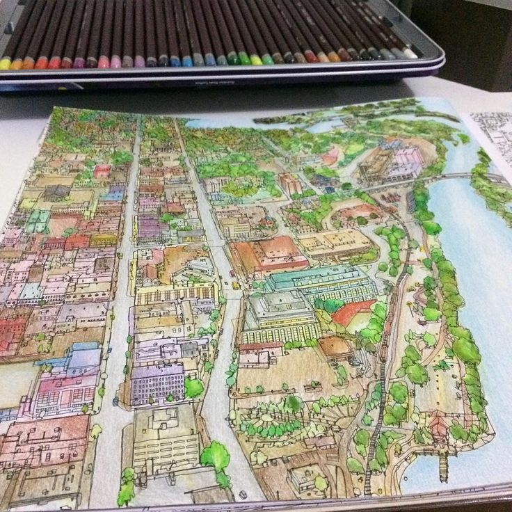 88 Best Images About Fantastic Cities Colouring Book On