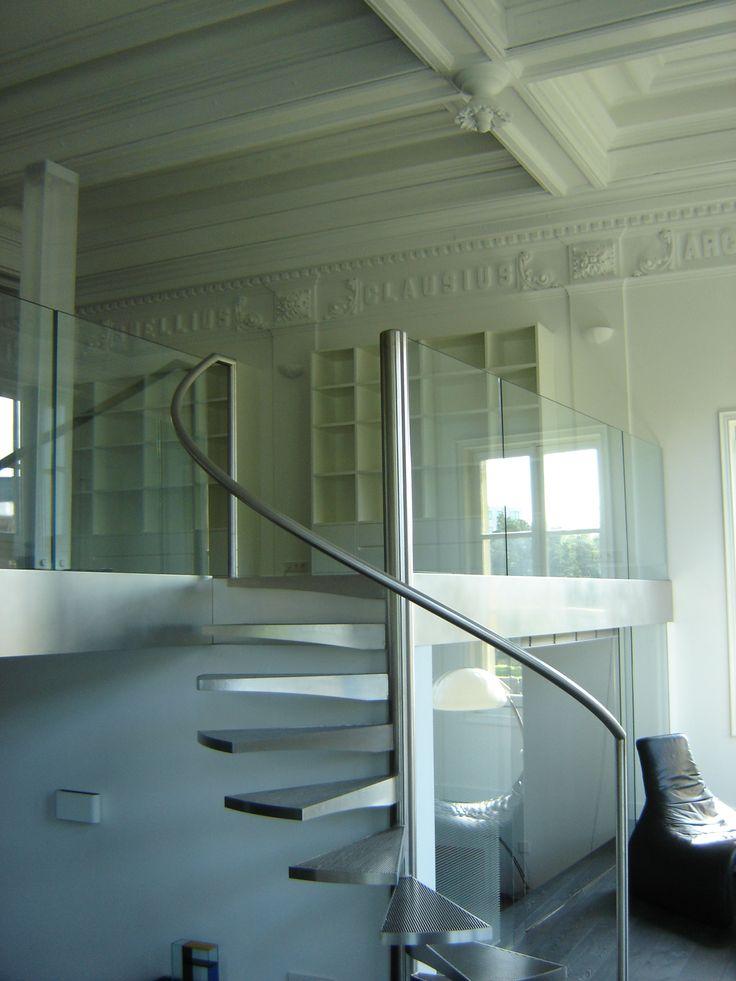 Glazen balustrade in woonomgeving