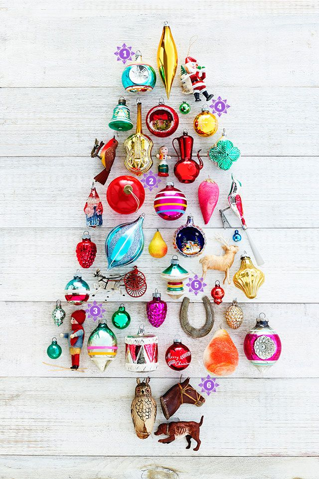 These candy-colored retro trimmings will infuse your tree with the spirit of Christmases past.