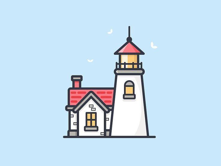 Lighthouse by Scott Tusk #dribbble #dribbblers #illustration #graphicdesign #design #designer #lighthouse by dribbblers