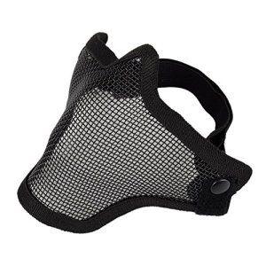 OftenTM Half Face Métal Mesh Net Masque de protection extérieure Airsoft