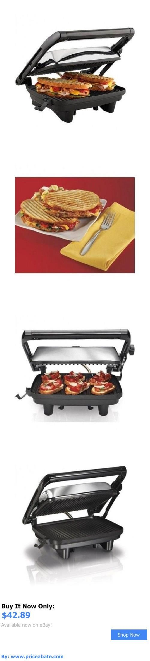 Small Kitchen Appliances: Panini Maker Gourmet Sandwich Press Hamilton Beach Kitchen Breakfast Toaster New BUY IT NOW ONLY: $42.89 #priceabateSmallKitchenAppliances OR #priceabate