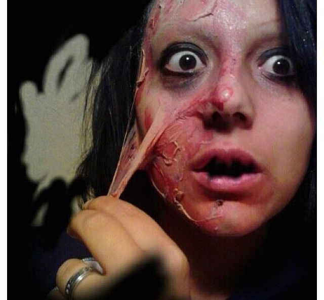Halloween Makeup, Scary Makeup, burn makeup, liquid latex, fake ...