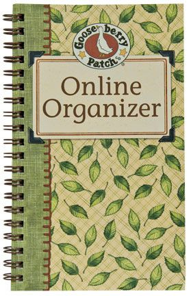 Online Organizer Computer Passwords Email Addresses Soft Green Leaf Pattern Country Primitive Home Office