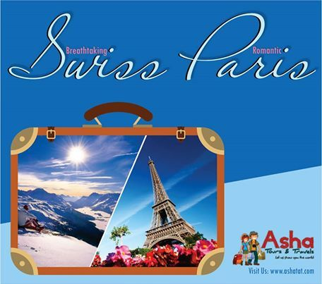 Explore most breath-takingly scenic locations, the exciting city life of Paris, snow-capped mountains & enjoy in the serene and soothing environs of Switzerland. Have an enriching experience with new friends and happy memories of one of the most beautiful continents on earth. #AshaTours #Travels #Swiss #Paris #Switzerland #Scenic #Environs #Serene #Picturesque #Breathtaking