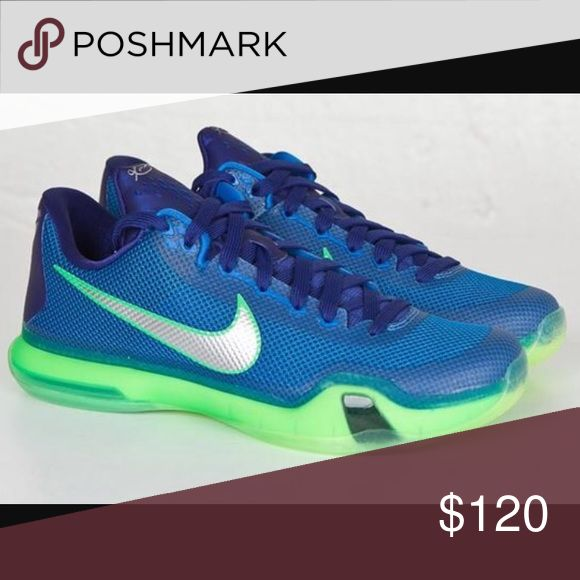 Nike Kobe X Emerald City Brand new/Never worn. A unique inspiration for the classic Kobe shoe line, taking colors from Richard Sherman and the Seattle Seahawks to create this original colorway for the shoe. If you have any questions leave them below. Nike Shoes Athletic Shoes