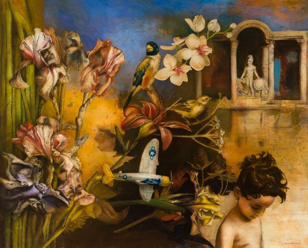 Cupid in the Garden of Lovers Oil on Canvas 81x100cm