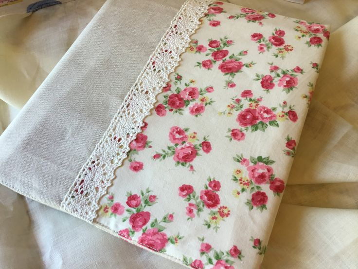 Pretty floral fabric covered notebook. by Buttons2uyorkshire on Etsy