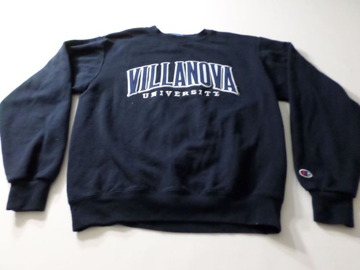 Villanova University Champion Sweater Mens Size Small S Long Sleeve Crew Neck  #Champion #SweatshirtCrew