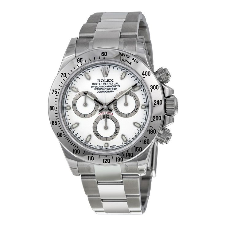 Rolex Daytona Cosmograph Stainless Steel White Dial Watch 116520WSO