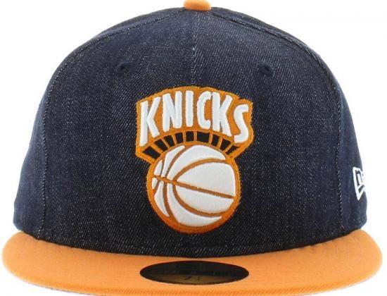 3be20cae3d4 Custom NEW ERA x NBA 「New York Knicks Denim   Orange Pop」59Fifty Fitted Baseball  Cap