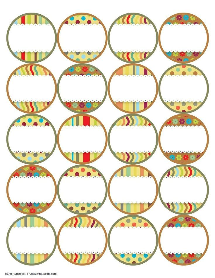 7 Free Printable Canning Jar Labels: Brights Top Labels