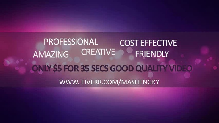 mashengky: create a 60 seconds ELEGANT animated sales video to increase your business income for $5, on fiverr.com