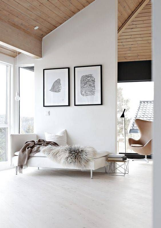 Scandinavian Design Inspired Interiors wooden ceiling living room