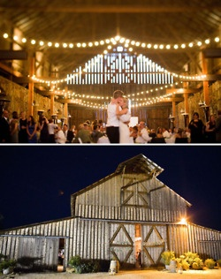 country wedding reception in old barn LOVE! But I am crazy but I want one that can be used in the winter ❄⛄