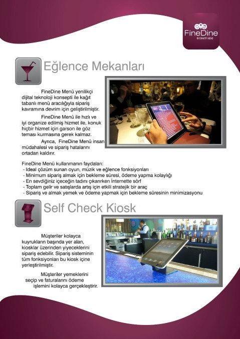 Self check kiosk iPad  http://www.finedinemenu.com/