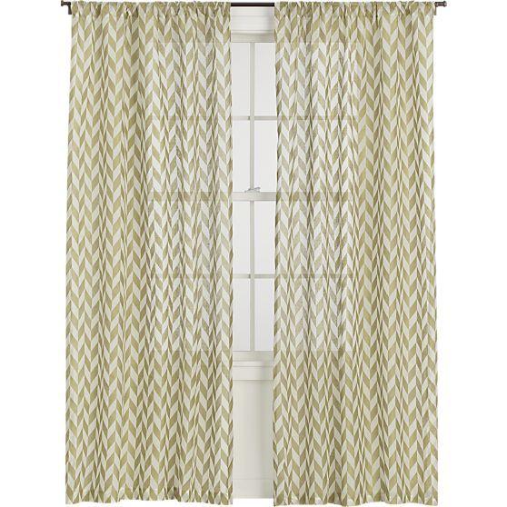 sheer gold herringbone curtains at crate barrel home pinterest herringbone the o 39 jays. Black Bedroom Furniture Sets. Home Design Ideas