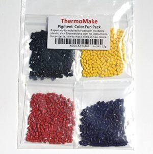 ThermoMake Pigment Color Fun Pack for moldable plastic polymorph,Polymold,IC3D,Moldable Plastic,Thermoplastic,Thermomorph,ReMoldables,FormIt,Polly Plastics