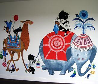 Jip en Janneke muurschildering