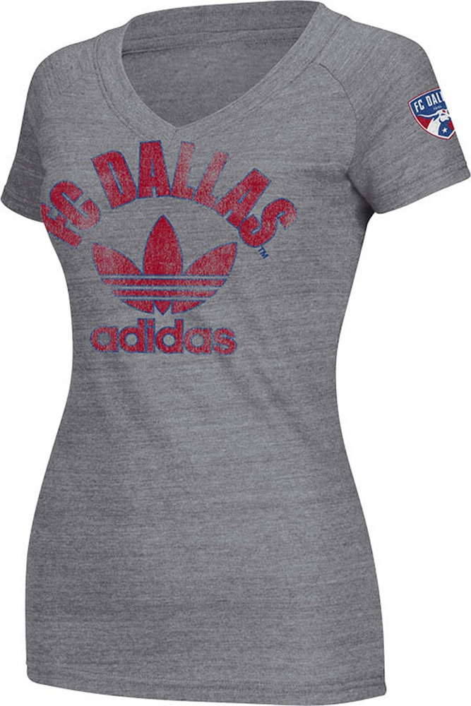FC Dallas Adidas Womn'es Grey V-Neck Shirt http://www.rallyhouse.com/shop/fc-dallas-adidas-fc-dallas-womens-adidas-grey-trefoil-triblend-vneck-tshirt-14859008# $24.00
