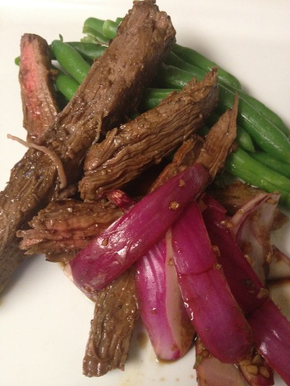 Balsamic Flank Steak– South Beach Phase 1 Dinner « By the (cook)Book