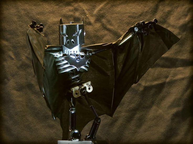 Batman by Martial Levaillant #Sculpture #RecycledArt