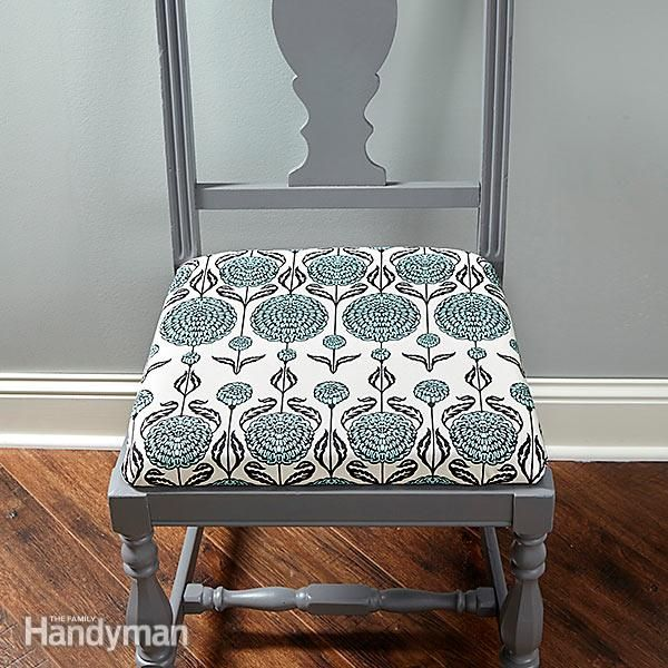 if you have worn-out chair seats, you can easily re-cover them. make a mistake? no problem. just pull a few staples and start over. reupholstering is a great way to bring tired-looking chairs—even tired-looking rooms—back to life. the materials are relatively inexpensive, the tools are simple and it's a project almost anyone cantackle with success.