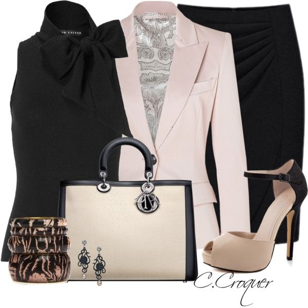 """""""Black&Blush"""" by ccroquer on Polyvore"""