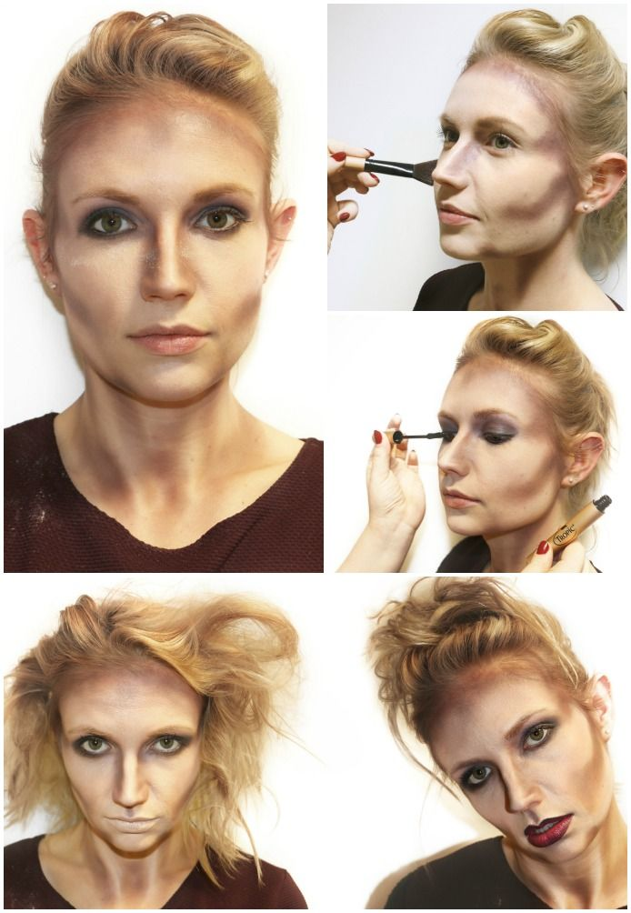 Halloween makeup ideas! Contour your jawline, cheeks and temples, and don't forget to do your neck and the sides of your nose! Create hollowed out eyes by applying your eyeshadow right up to your brow bone and blending. Here's some looks we created at HQ using all Tropic makeup! #Halloweenmakeup #Halloweenmakeupideas #Halloweeninspiration