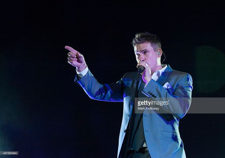 Lee Ryan of Blue performs on stage at BIC on March 27 2015 in Bournemouth United Kingdom