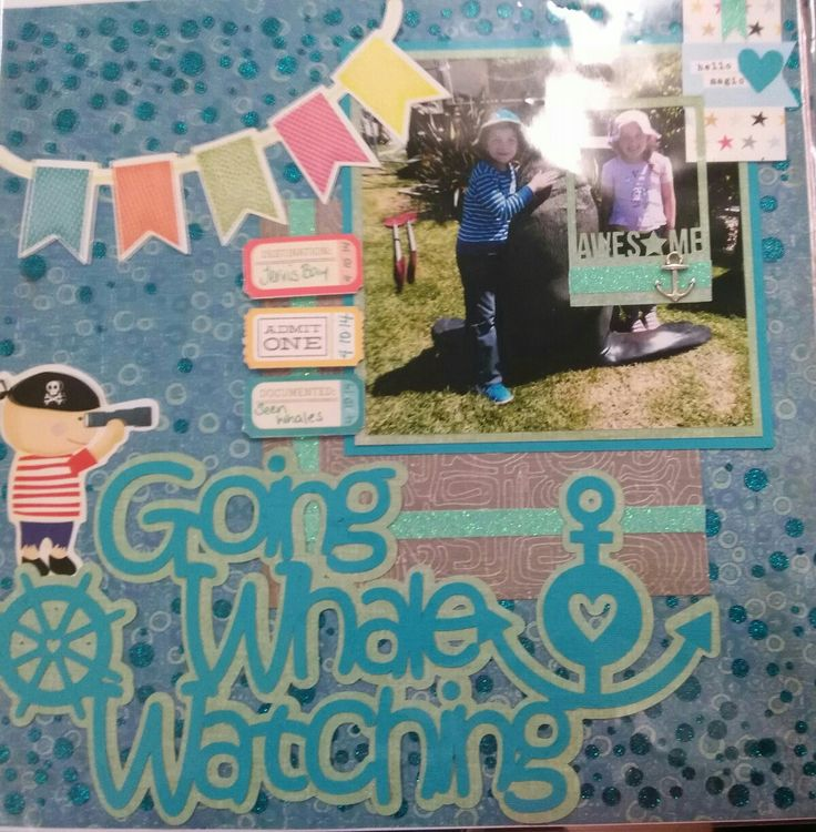 Going whale watching Scrapbooking page