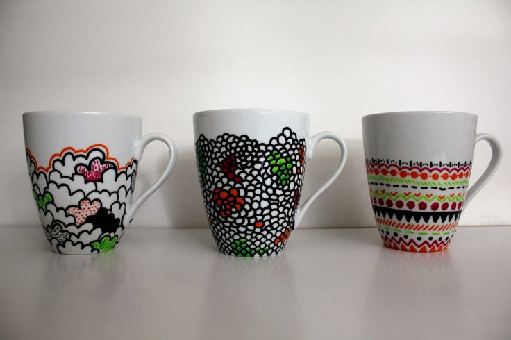 top 25 ideas about decorating mugs on pinterest sharpies. Black Bedroom Furniture Sets. Home Design Ideas