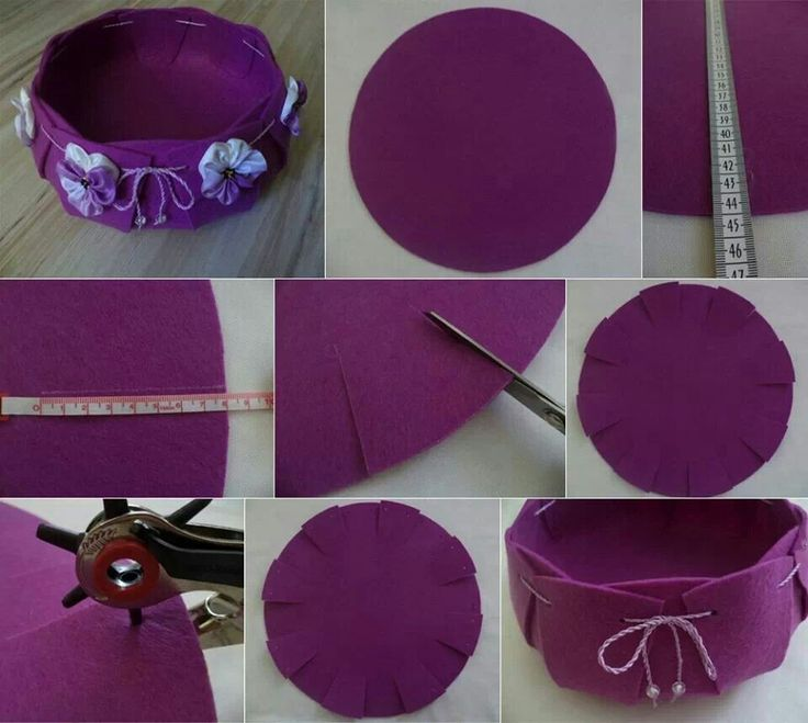 DIY vaciabolsillos de fieltro - DIY Felt bowl