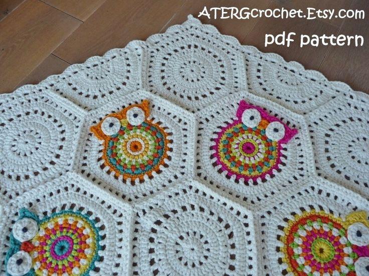 crochet pattern owl hexagon by atergcrochet by atergcrochet 450