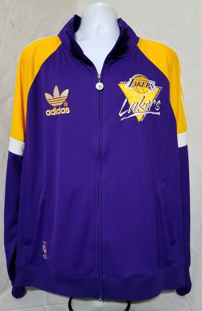 Adidas Nba Los Angeles Lakers Warm Up Jacket Trefoil Mens Xl Adidas Losangeleslakers Jackets Los Angeles Lakers Adidas Nba