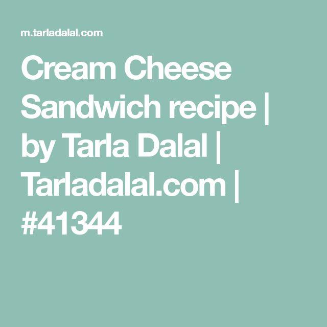 Cream Cheese Sandwich recipe | by Tarla Dalal | Tarladalal.com | #41344