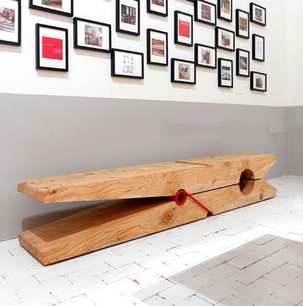 Peg Bench. Designed by Michela & Paolo Baldessari in 1920.