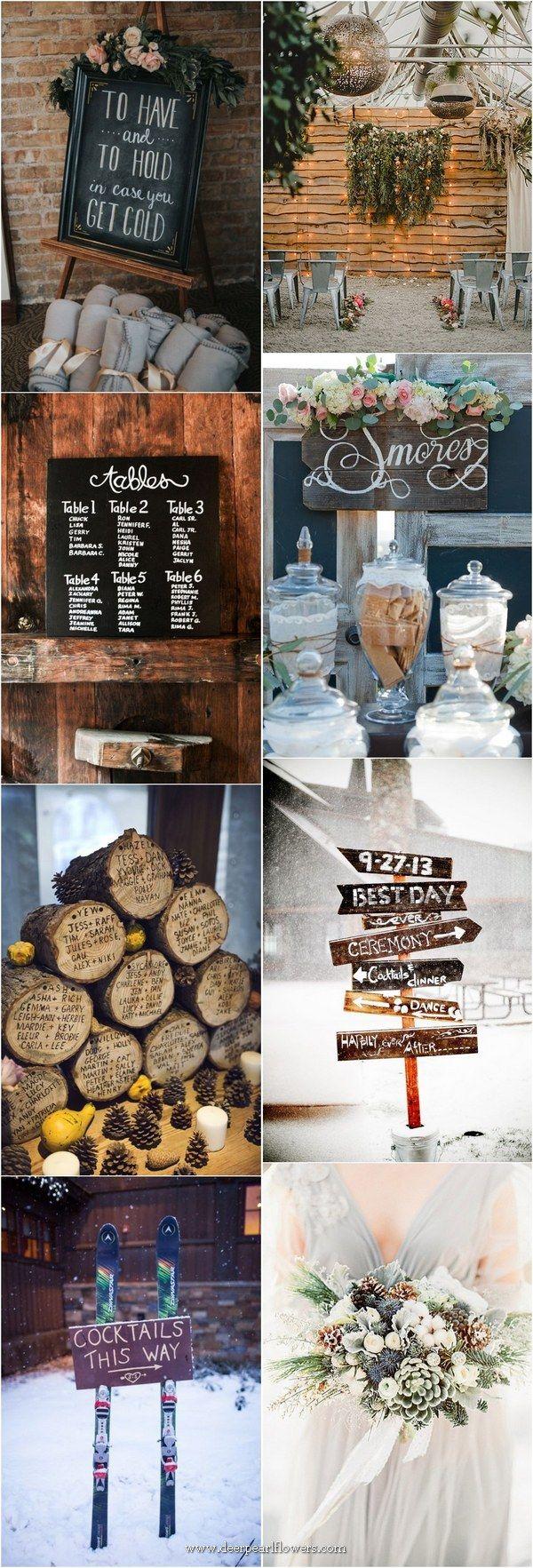 Winterhochzeitsideen – #winterwedding #winter #weddingideas www.deerpearlflow …   – Winter Weddings