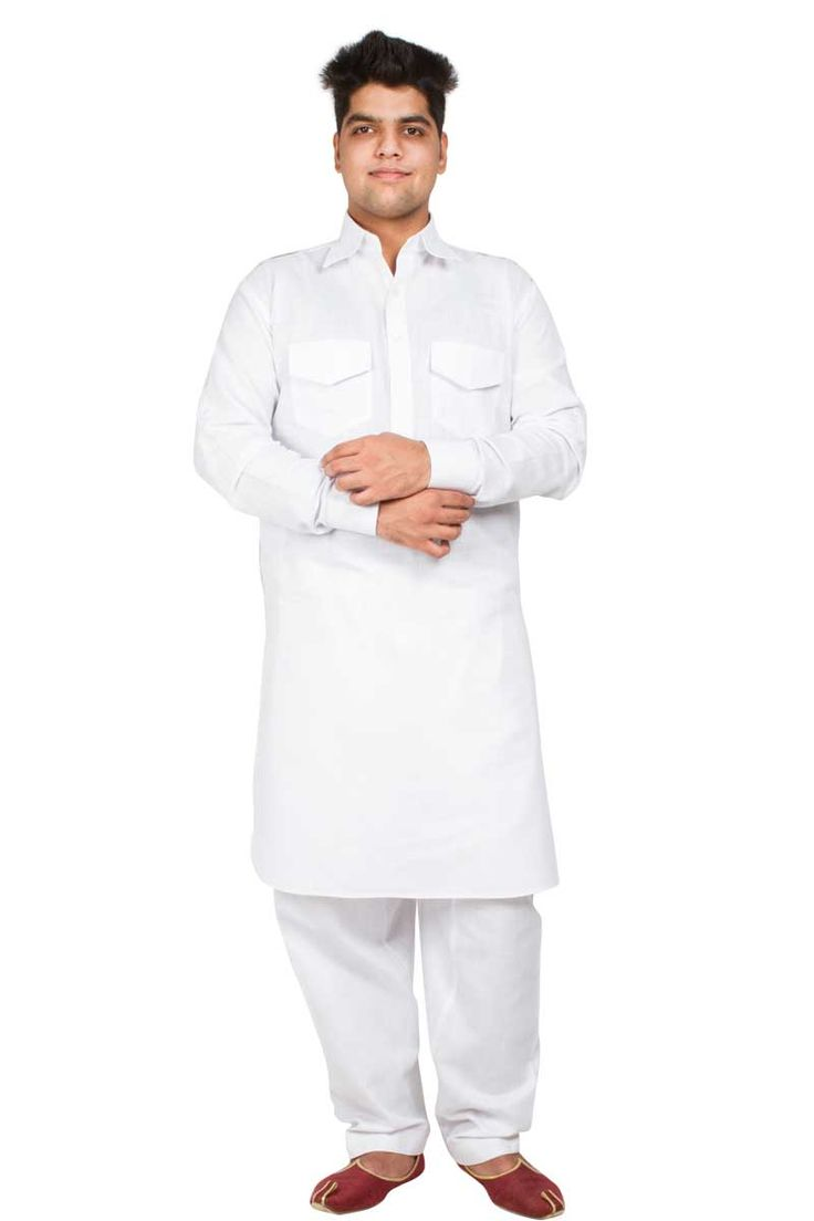 Blanc Lilen & Coton Pattani Suit Prix:- 38,19 €  Andaaz Fashion new arrival ethnic mens wear White Lilen Pathani Kurta Pyjama http://www.andaazfashion.fr/white-lilen-cotton-pathanii-suit-5099.html